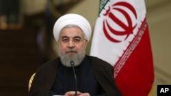 Shugaban Iran Hassan Rouhani.
