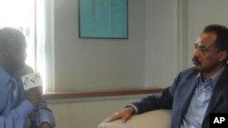 Eritrean President Isaias Afewerki being Interviewed by VOA`s Tewelde Weldegebriel