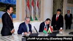 عبدالله عبدالله، رئیس اجرائیه افغانستان در سفر اخیرش به تاجکستان