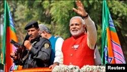 Ông Narendra Modi, ứng cử viên thủ tướng của đảng đối lập BJP.
