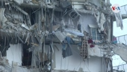 Edificio al norte de Miami Beach se derrumba
