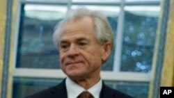 National Trade Council Director Peter Navarro, pictured at the White House in late January, says NAFTA could be transformed into two parallel U.S. bilateral deals with Canada and Mexico, or a modernization of the current trilateral deal.