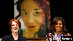 امریکی خاتون اول اور آسٹریلیا کی سابق وزیر اعظم جولیا گلارڈ