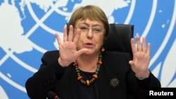 Kepala badan HAM PBB, Michelle Bachelet