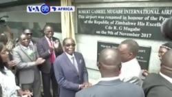 VOA60 Africa: Ikibuga cy'Indege Cyitiriwe Robert Mugabe Muri Zimbabwe
