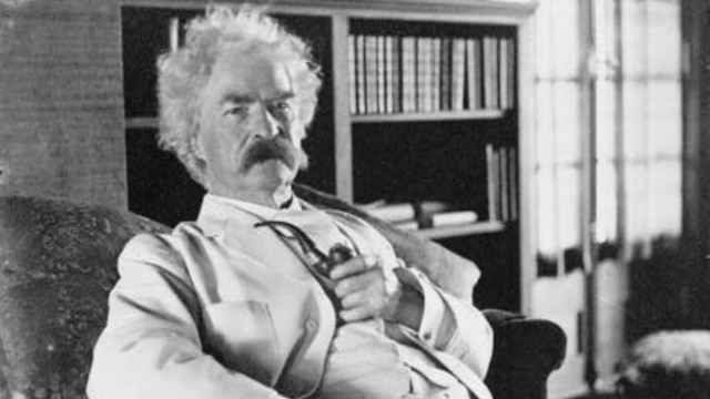 """Mark Twain wrote the """"The Adventures of Huckleberry Fin"""" in 1884."""