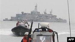 Tàu của Hải quân Nam Triều Tiên tuần phòng gần đảo Yeonpyong, nơi 31 ngư phủ Bắc Triều Tiên bị lạc đến