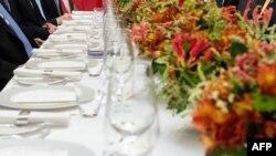 美国总统特朗普和中国国家主席习近平在布宜诺斯艾利斯共进晚宴。(2018年12月1日)