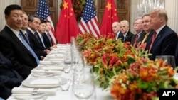 特朗普和習近平在20國集團峰會期間會晤( 2018年12月1日)