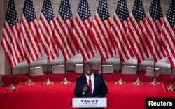 U.S. Senator Tim Scott (R-SC) speaks to the largely virtual 2020 Republican National Convention in a live address from the Mellon Auditorium in Washington, U.S., August 24, 2020. REUTERS/Kevin Lamarque