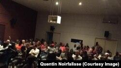 Projection d'un film de Quentin Noirfalisse à Kinshasa, 14 septembre 2017. (Facebook/ Quentin Noirfalisse)