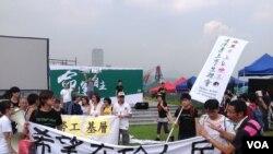 香港罢课学生游行践行公民抗命