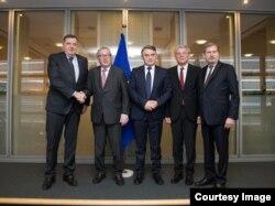 Članovi Predsjedništva BiH sa Jean Claude Junckerom i Johannesom Hahnom, Brisel, 30.01.2019.
