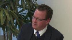 泰勒谈南中国海局势与澳美同盟关系原声视频 (美国之音黎堡摄)
