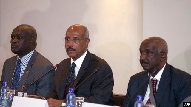FILE - Seyoum Mesfin, Chairman of IGAD Special Envoys to South Sudan, gives remarks at the launch of the Multi-stakeholder Roundtable Negotiations on June 16, 2014 in Addis Ababa, Ethiopia.