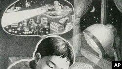 리디체 국제 아동미술전에서 입상한 북한 어린이의 작품