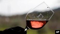지난 1월 미국 캘리포니아에서 열린 한 자선 행사에서, 참석자들이 행사에 참가한 와인업체의 신제품을 시음하고 있다.