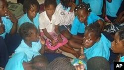 Alunos em Moçambique