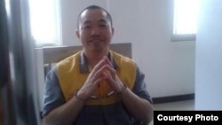 被關押期間的公民活動人士丁家喜(網絡圖片)