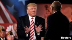 미국 공화당의 도널드 트럼프 대선후보가 7일 뉴욕에서 열린 안보포럼에서 발언하고 있다.