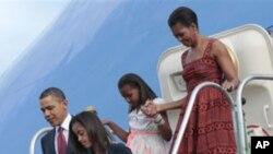美国总统奥巴马与家人星期六抵达巴西开始拉美三国之行