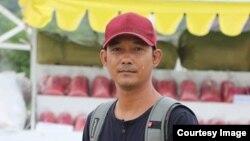 ဖမ္းဆီးခံသတင္းေထာက္ နႏၵ (ဓာတ္ပံု Channel Mandalay TV)
