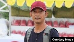ဖမ္းဆီးခံ သတင္းေထာက္ နႏၵ (ဓာတ္ပံု - Channel Mandalay/ Facebook)