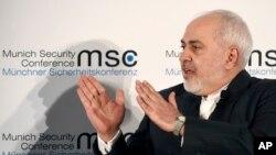 Le ministre iranien des Affaires étrangères Mohammad Javad Zarif en Allemagne, le 15 février 2020.