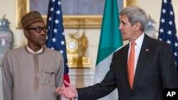 Shugaba Mohammadu Buhari da Sakataren harkokin wajen Amurka John Kerry