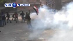 Anti-Morsi protesters in Cairo clash with security forces nearTahrir Square.