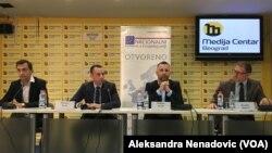 Ivan Đurić, Damjan Jović i Dalibor Jevtić na okruglom stolu o briselskom dijalogu