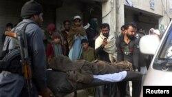 10일 자살폭탄 공격이 발생한 파키스탄 반누시 경찰서.