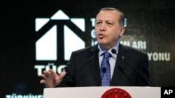 Le président Recep Tayyip Erdogan donne un discours à Ankara, Turquie, le 11 février 2016.