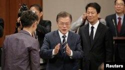 5月27日有消息指文在寅總統可能參加美國總統川普和北韓領導人金正恩之間的峰會。