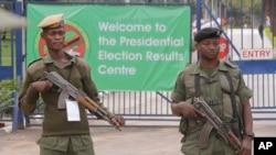 Des policiers zambiens à Lusaka, 21 janvier 2015.