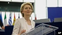 Урсула фон дер Ляєн виступає у Європарламенті 16 липня 2019 р.
