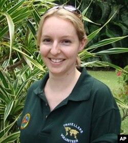Amy de Boer, Australian Volunteer at Sepilok Rehabilitation Center in Malaysia