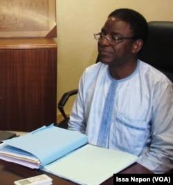 Rabiou Cissé Président de l'Université Ouaga1 Joseph Ki-Zerbo, au Burkina Faso, le 15 mars 2018. (VOA/Issa Napon)