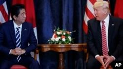 La reunión entre Shinzo Abe y Trump tuvo lugar el viernes en el marco de la cumbre del G-7 en Sicilia.