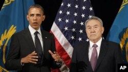 Барак Обама і Нурсултан Назарбаєв (архівне фото)