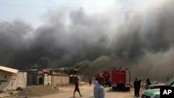 تیل کے جلتے ہوئے کنوؤں نے شمالی عراق میں زندگی اجیرن بنا دی ہے۔