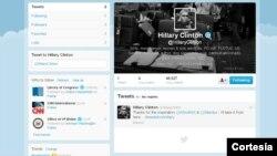 Hillary Clinton envía su primer tuit @hillaryclinton. [Foto: Cortesía Twitter].