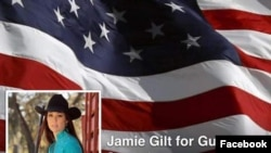 A Facebook page for Jamie Gilt for Gun Sense was taken down after its owner was shot in the back by her 4-year-old son.