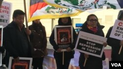 New York Tibetans Hold Protest and Prayer in Solidarity with Pema Gyaltsen who self-immolated