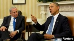 AQSh prezidenti Barak Obama Vashingtonda Isroil bosh vaziri Benyamin Netanyaxu bilan uchrashmoqda, 30-sentabr, 2013-yil