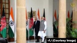 افغان صدر اشرف غنی او د هندوستان وزیراعظم نرندره مودي