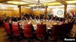 2020年2月1日,阿拉伯聯盟在美國總統特朗普宣布其中東和平計劃之後舉行會議。