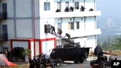 Một cuộc diễn tập đa quốc chống khủng bố đã kết thúc ở Indonesia với một màn trình diễn giải cứu con tin do các binh sĩ tinh nhuệ thực hiện (13/9/2013).