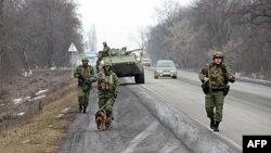 Усиленный патруль МВД на трассе Малгобек-Назрань. Ингушетия. 28 января 2011г.