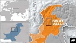 ແຜນທີ ເຂດຮ່ອມພູ Swat ທີ່ຕິດກັບເມືອງ Buner ແມ່ນເຊື່ອກັນວ່າ ເປັນບ່ອນລີ້ຊ່ອນຂອງ ພວກຫົວຮຸນແຮງ ຕາລີບັນ ໃນປາກິສຖານ ທີ່ຫົວໜ້າຄະນະກໍາມະການຕໍ່ຕ້ານກຸ່ມຫົວຮຸນແຮງ ຕາລີບັນ ຂີ່ລົດມຸ້ງໜ້າໄປ ກ່ອນຈະຖືກສັງຫານນັ້ນ